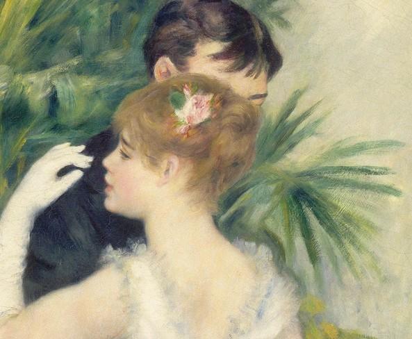 Pierre-Auguste Renoir | Danse à la ville [detalle] | 1883 | Óleo sobre tela